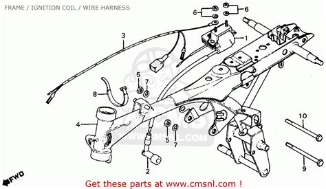 honda z50r 1983 d usa frame ignition coil wire