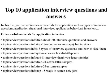 Best Answer For Leaving A On Application Top 10 Application Questions And Answers
