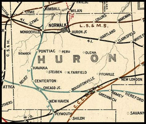 Huron County Records Huron County Ohio Railroad Stations