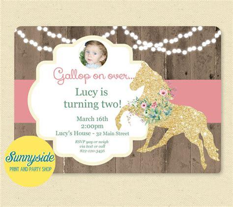 printable horse birthday decorations pony birthday party invitation printable horse ponies