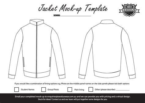 Windbreaker Jacket Template Designer Jackets Custom Template Design