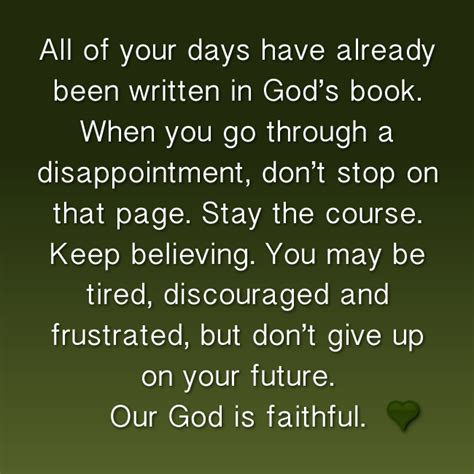 days    written  gods book      disappointment