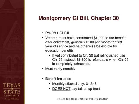 Using A Montgomery Gi Bill For Mba by Ppt Veterans Affairs Powerpoint Presentation Id 1518507