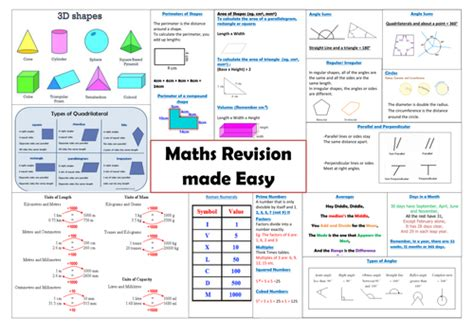 1 year mat programs year 6 maths revision mat by deako teaching resources tes