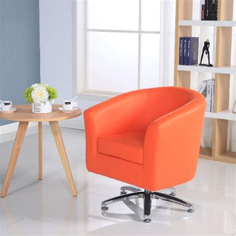 orange swivel tub chair leather tub chairs designer leather swivel tub chair