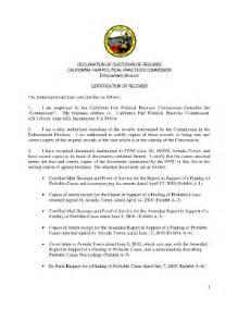 delcaration of custodian of records fill