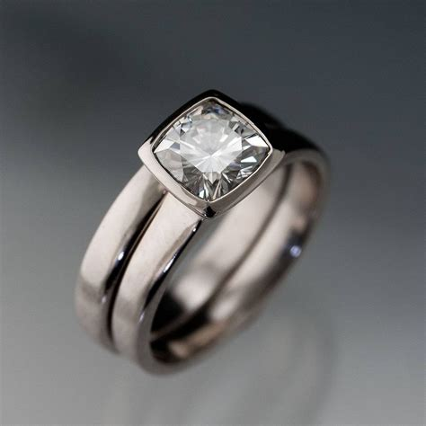 photo gallery of wide band wedding rings sets viewing 8