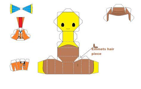Chibi Papercraft Maker - lego emmet chibi papercraft by thestickfigureking on