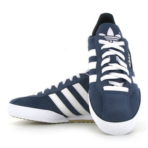 football casual shoes adidas samba original suede mens blue football fashion