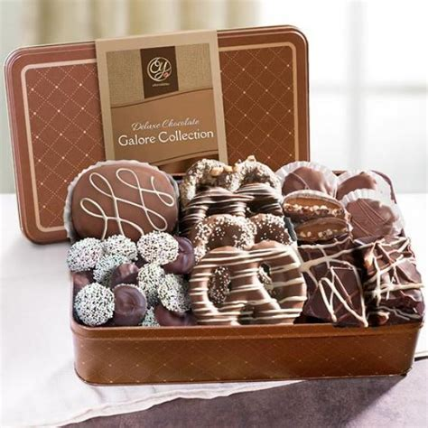 Handmade Chocolate Gifts - premium handmade chocolates deluxe assortment in gift tin