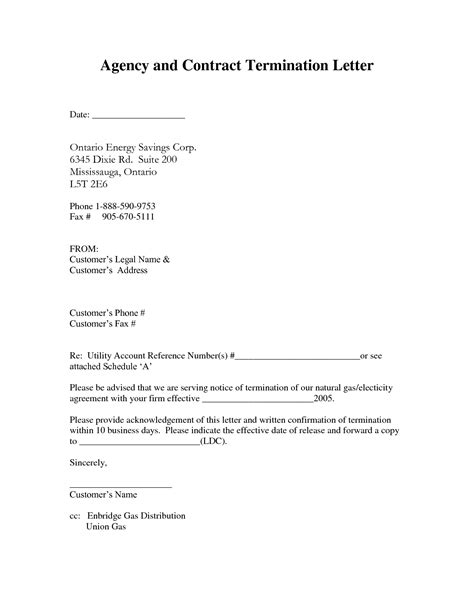 Termination Of Service Agreement Letter Sle contract termination letter sle pdf 28 images contract