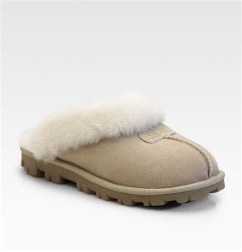 ugg coquette slipper ugg coquette sheepskin slippers in beige sand lyst