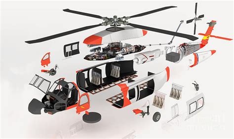 Philips Hair Dryer Disassembly helicopter exploded view photograph by nikid
