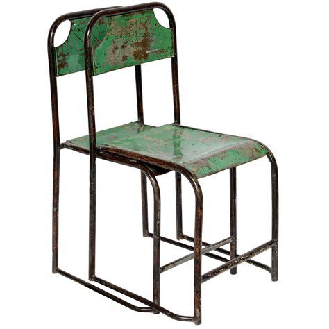pr vintage metal chairs from java at 1stdibs