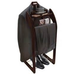 Men s stylish hardwood clothes valet stand organize your trousers
