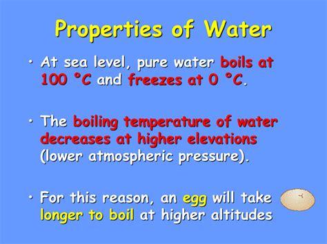 senior biology biological properties of water