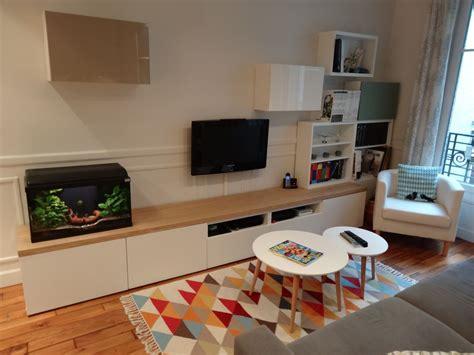 Ikea Besta Meuble Tv by Meuble Tv Sur Mesure En Customisant Des Caissons Besta