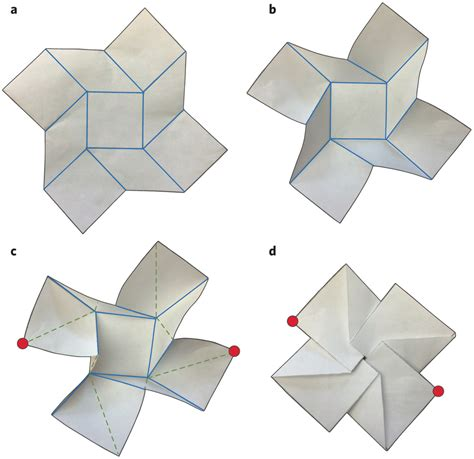 Origami Folding - folding of the square twist structure origami folding