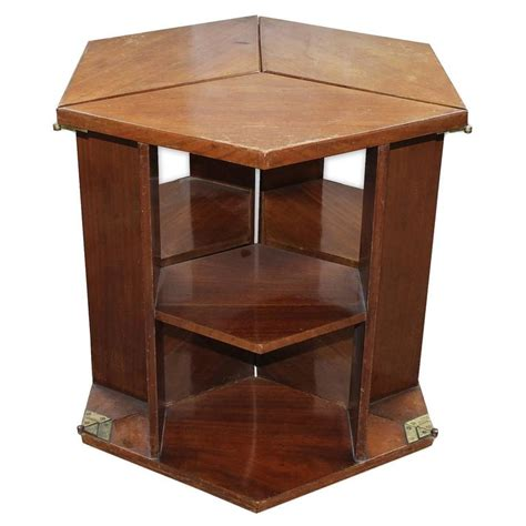 Eugene Printz Walnut Folding Bookcase Table 1930 For Bookcase Coffee Table