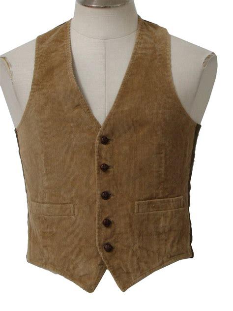 Corduroy Vest vintage 70s vest 70s missing label mens corduroy