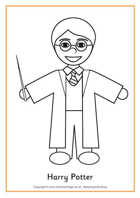 harry potter coloring pages easy harry potter colouring page 2