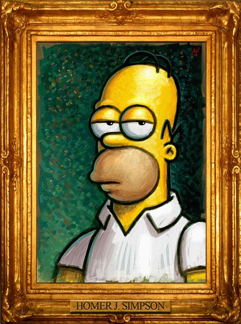 simpsons painting homer portrait by vegasmike on deviantart