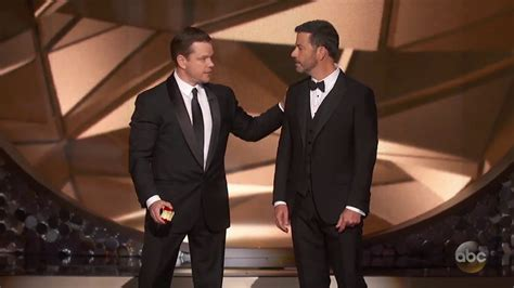 Jimmy Kimmel Mat Damon matt damon confronts jimmy kimmel after emmys loss