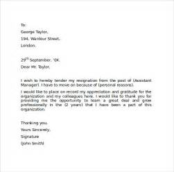 Resignation Letter Word Format by Resignation Letter Format 9 Free Documents In Pdf Word Sle Templates