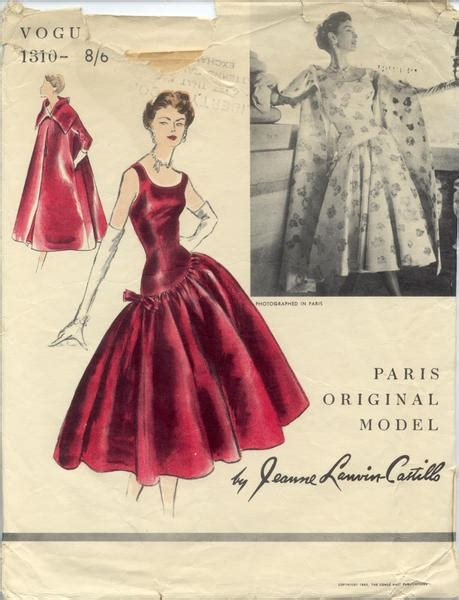vogue pattern history best 53 1950s costume history images on pinterest