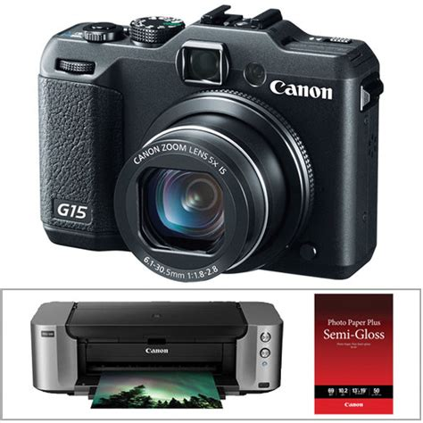 canon g15 digital canon powershot g15 digital with inkjet printer kit b h