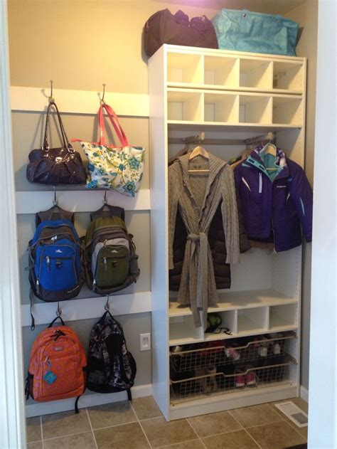 backpack storage ideas diy garage storage idea organize garage shed pinterest
