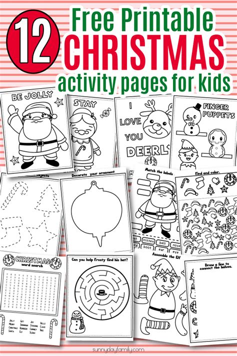 printable toddler christmas activities 12 free printable christmas activity pages for kids