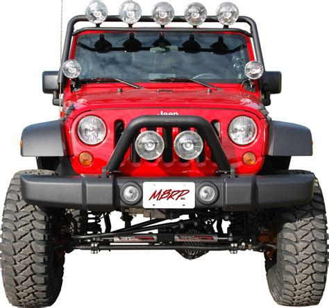 Jeep Jk Light Bar Mbrp Windshield Light Bar Assembly Black Coated Fits 2007
