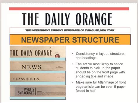 syracuses  daily orange newspaper research strategy