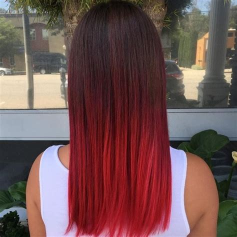 diy beauty from brown hair to bright red hair easy steps sleek and sexy hair beauty with ombre straight hair