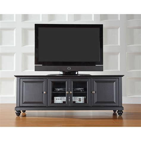 Cambridge 60 Inch Low Profile Tv Stand In Black Finish Low Profile Tv Cabinet