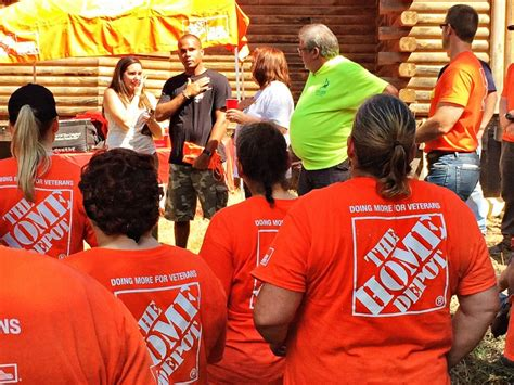 a celebration of service with home depot at the picket fence