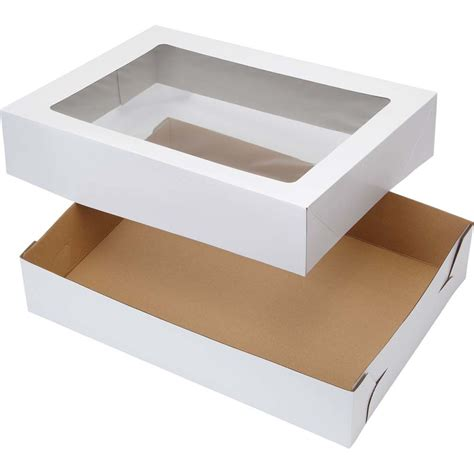 pie boxes with windows 19x14 corrugated window cake boxes wilton