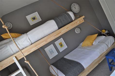 diy hanging bed three boys one room the bumper crop
