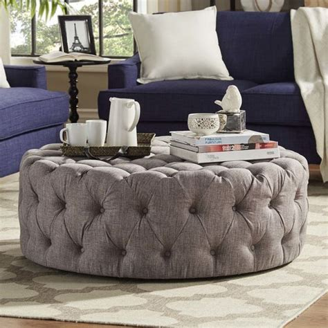 joss and main ottoman harris upholstered ottoman ottomans tufted ottoman and