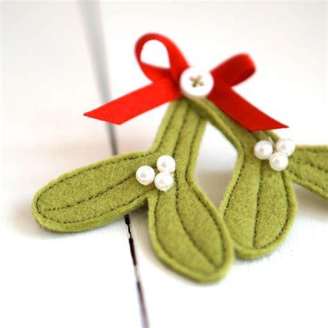 Handmade Felt Brooches - handmade felt mistletoe brooch by rosiebull designs
