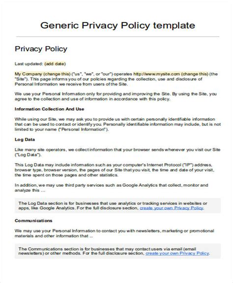 Privacy Notice Template Screenshot Of Github Privacy Statement Sle Privacy Policy Template Gdpr Privacy Notice Template