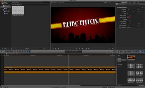after effects templates to fcpx free template fcpx retro effects