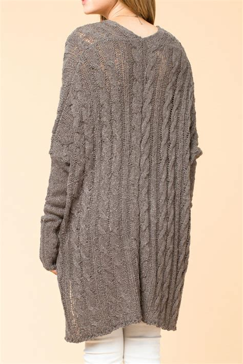 oversized cable knit sweater hyfve oversized cable knit sweater from branford by