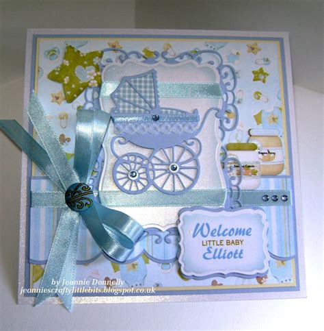 Handmade Baby Book Ideas - new baby boy card using dies from spellbinders and