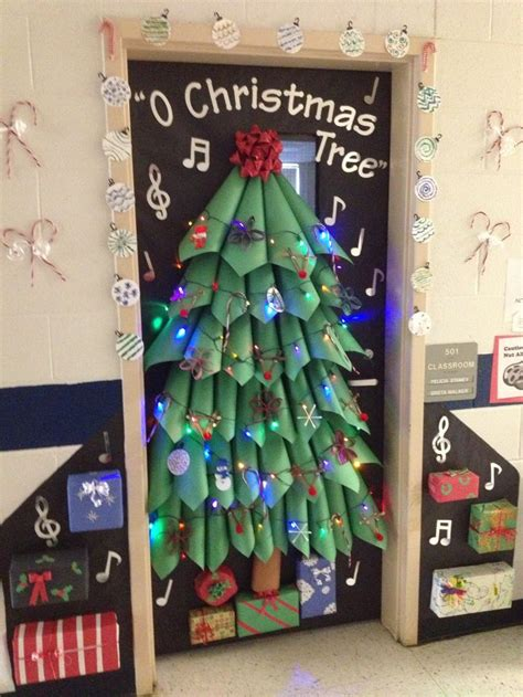 christmas classroom door tree door decoration i this trees