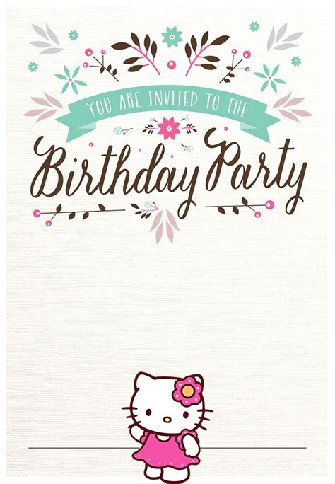 Hello Kitty Free Printable Invitation Templates Invitations Online Free Invitation Template