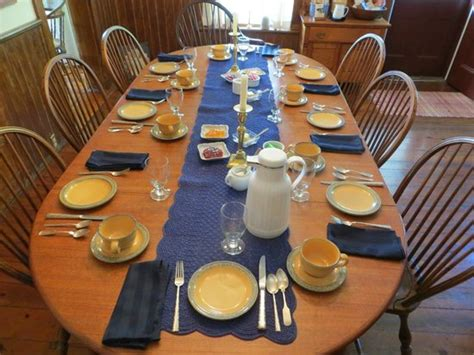 what is table set up breakfast table all set up for the guests picture of