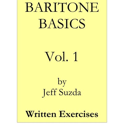graineliers vol 1 books baritone basics vol 1 exercise book jeff suzda
