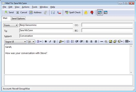 format message html novell doc groupwise 8 windows client user guide